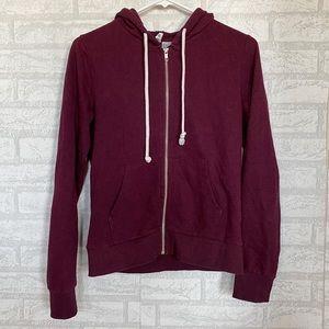Maroon H&M Zip Up Hoodie Jacket